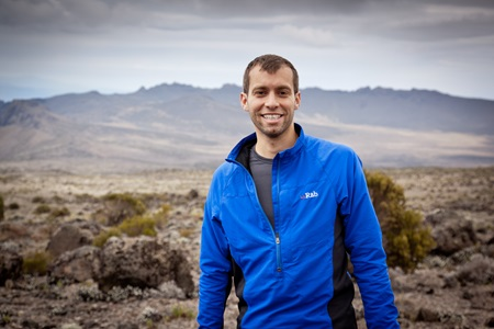 Dr Matt Wilkes on Mount Kilimanjaro
